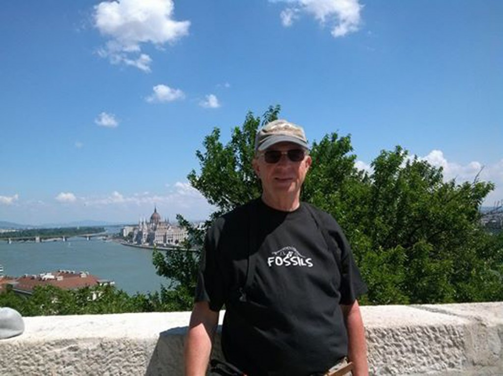 Mike Ammerman in Hungary in Fossil shirt